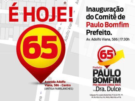 Convite Inaug Comitê 65