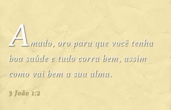 3 Joao 1,2