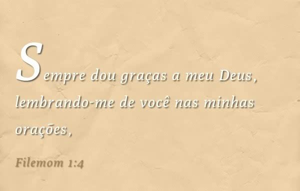Filemon 1,4