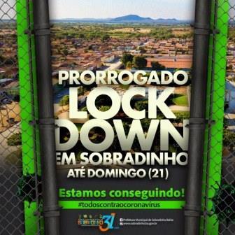 Lockdwon prorrogado Sob